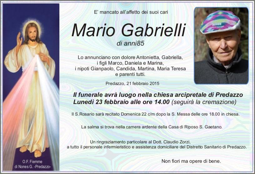 Gabrielli Mario Avvisi della Parrocchia e necrologio Mario Gabrielli