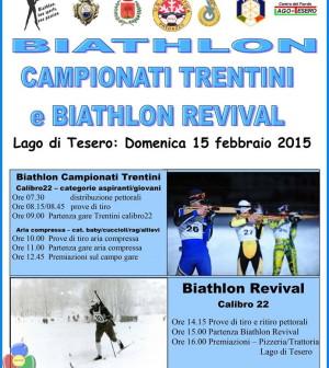 locandina campionati trentini biathlon