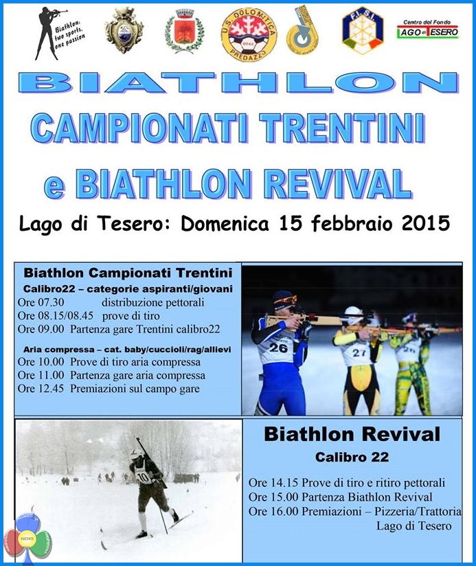 locandina campionati trentini biathlon Campionati Trentini Biathlon 2015   Classifiche e Foto