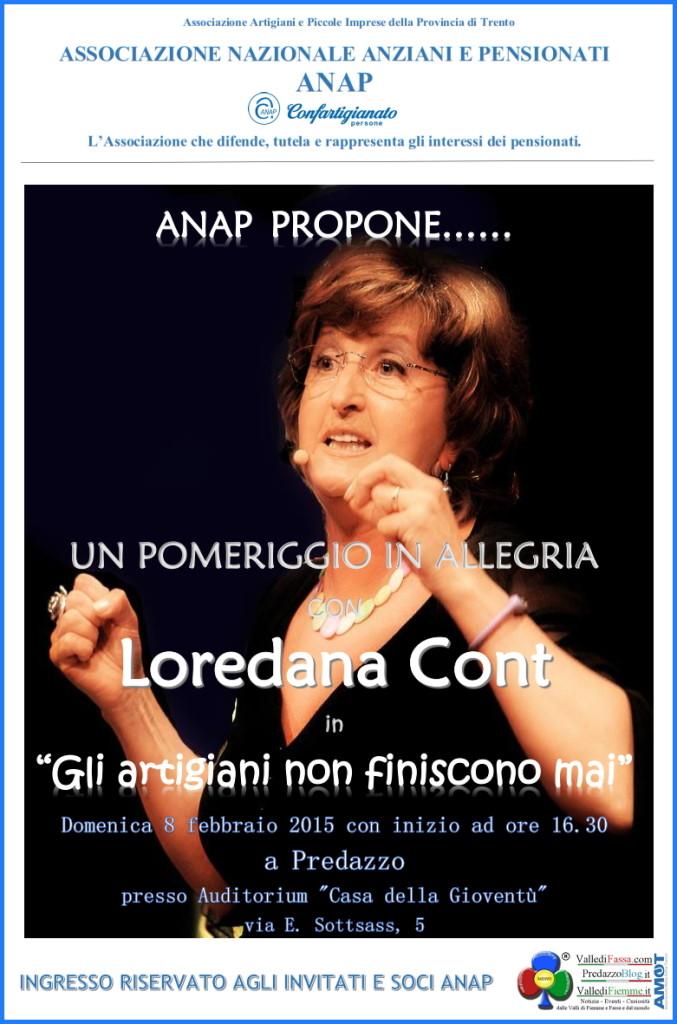loredana cont a predazzo con gli artigiani 677x1024 Gli artigiani non finiscono mai Spettacolo con Loredana Cont