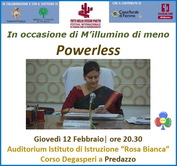 powerless predazzo Powerless per M'illumino di meno a Predazzo