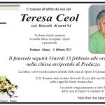 teresa ceol 150x150 Necrologia Predazzo: Maria Demartin ved. Gabrielli e Maria Elisa Fattori in Bucci