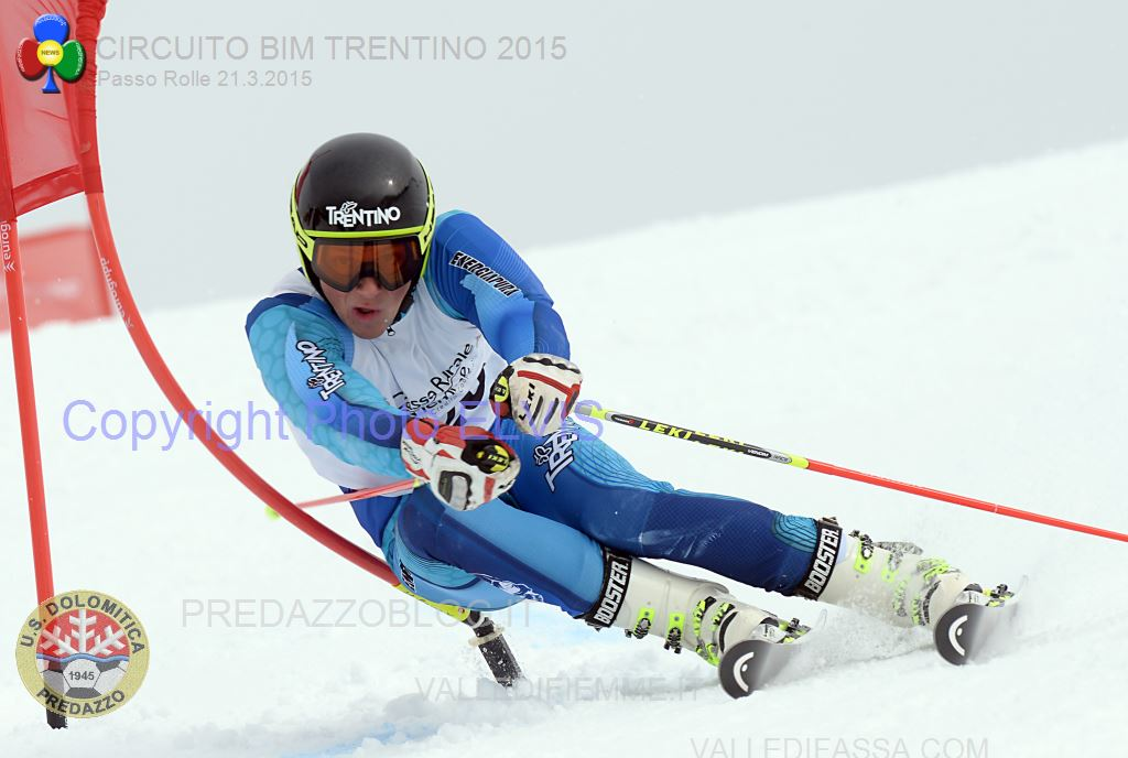 CHIESA ANDREA GS TRENTINI ROLLE 2015PHOTO ELVIS Rolle, Trofeo 70° US Dolomitica e Campionato TN Slalom Classifiche e Foto