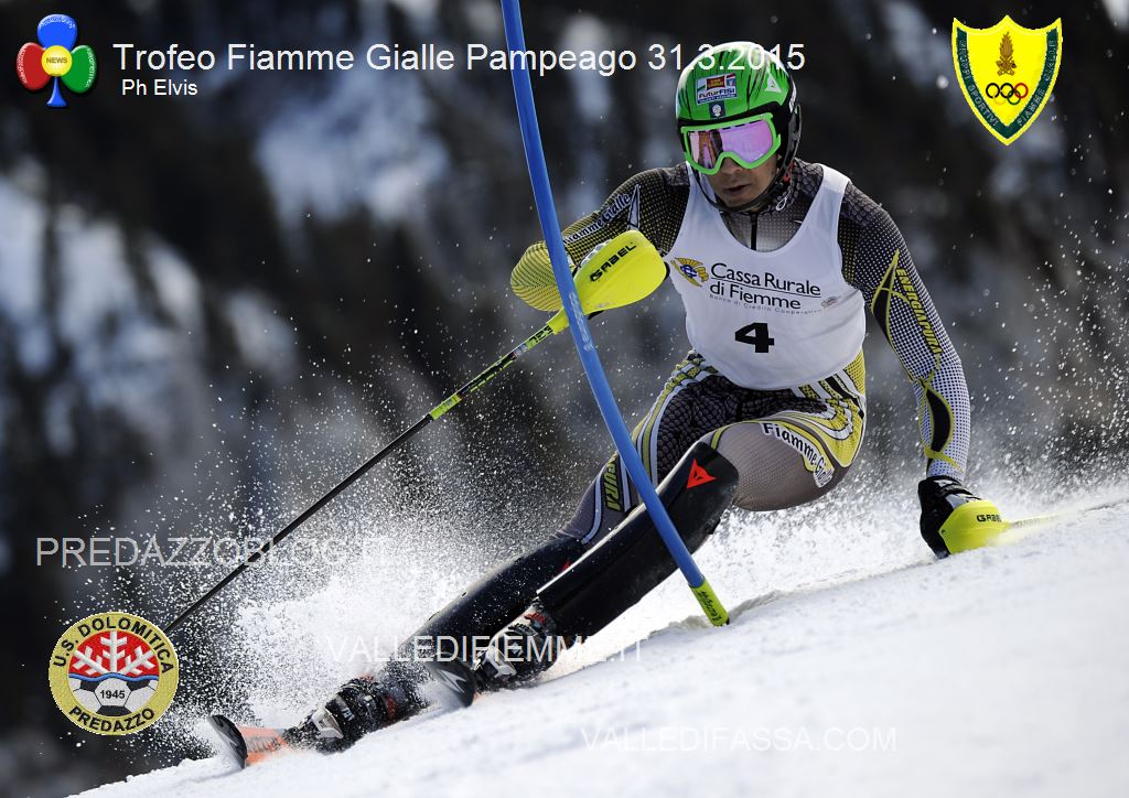 DA VILLA DAVIDE SL PAMPEAGO 31 2015 PHOTO ELVIS Bis di Fabian Bacher nel secondo slalom FIS di Pampeago