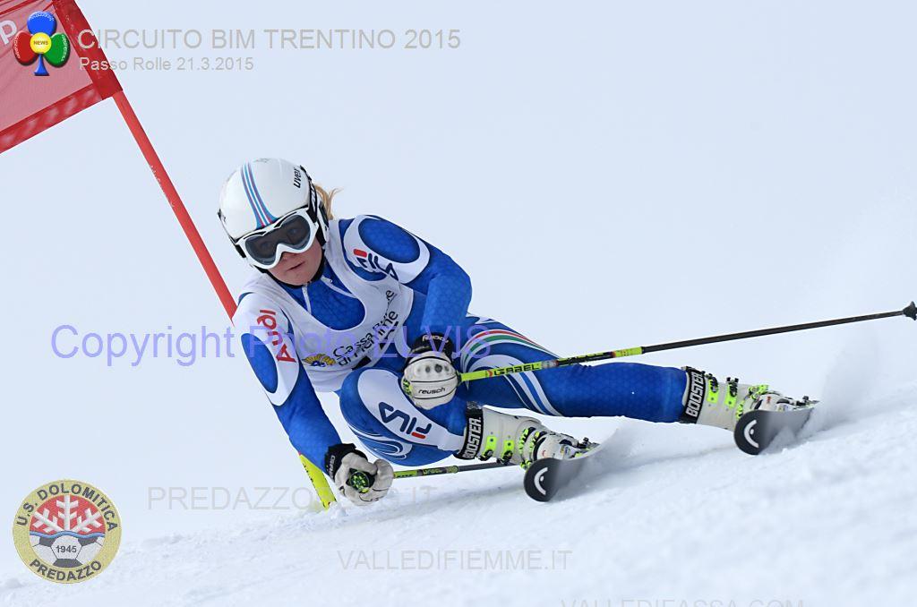 Zanini Francesca GS TRENTINI ROLLE 2015 a PHOTO ELVIS Rolle, Trofeo 70° US Dolomitica e Campionato TN Slalom Classifiche e Foto