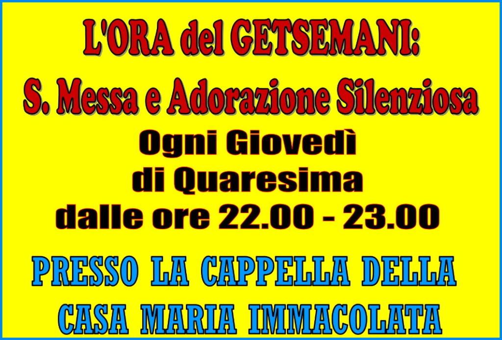 ora del getsemani 1024x694 Predazzo, avvisi della Parrocchia 1/8 marzo