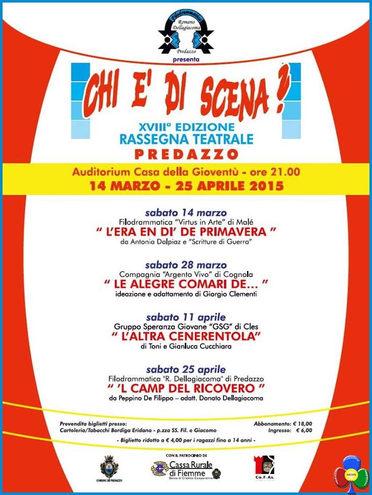 rassegna filodrammatica predazzo 2015 18ª Rassegna Teatrale a Predazzo