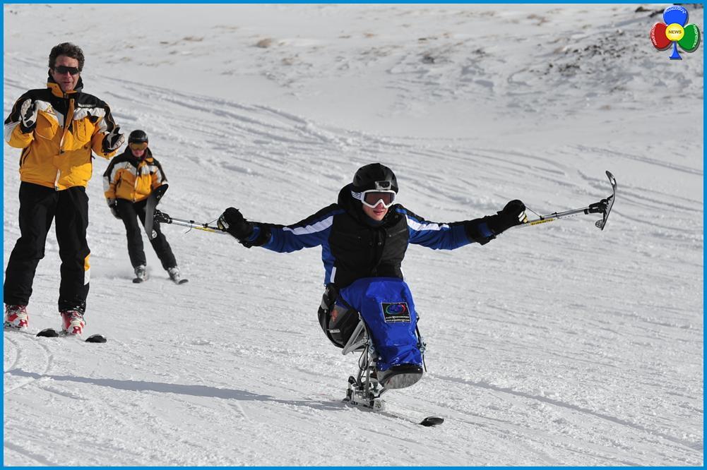 sportabili sugli sci Coppa del Mondo di snowboard per disabili in Val di Fiemme