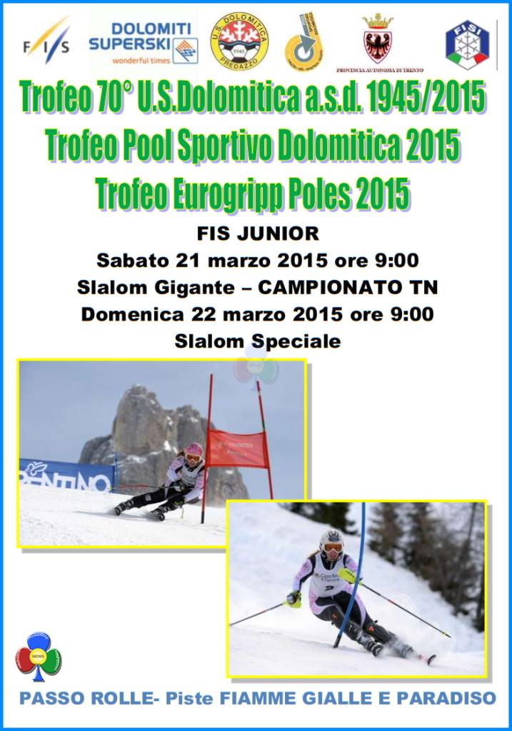 trofeo us dolomitica predazzo 717x1024 Rolle, Trofeo 70° US Dolomitica e Campionato TN Slalom Speciale