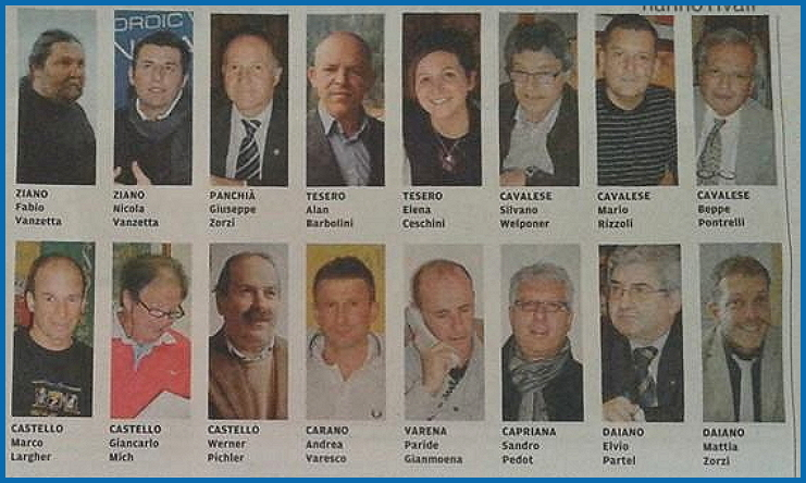 candidati sindaci fiemme foto 2015 Elezioni amministrative 2015, Maria Bosin sarà ancora Sindaco