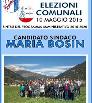 copertina volantino elezioni comune predazzo 2015