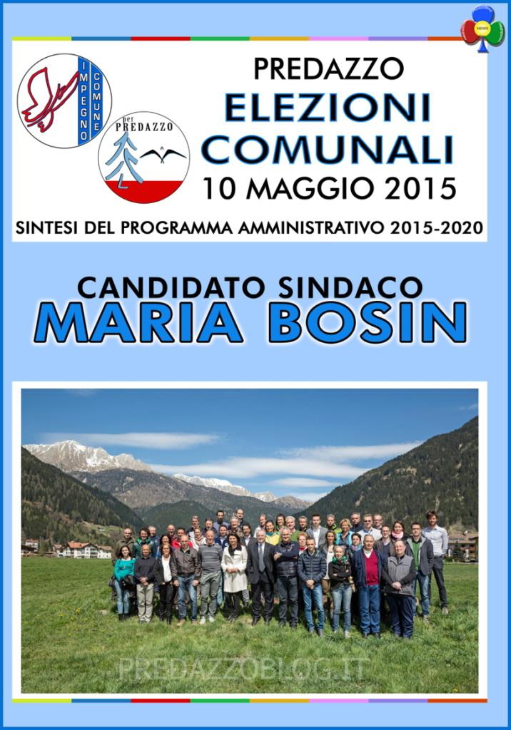 copertina volantino elezioni comune predazzo 2015 716x1024 Predazzo, il programma e le liste che sostengono Maria Bosin