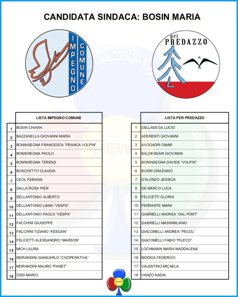 liste maria bosin predazzo 822x1024 Predazzo, le liste di Maria Bosin (ma serve il quorum del 50%)