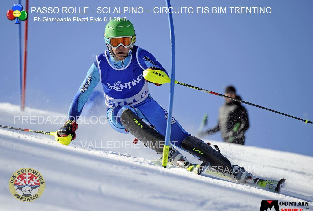sci alpino gare fis passo rolle bim dolomitica 6 aprile 20151 Circuito Fis Bim Trentino oggi al Rolle, classifiche e foto