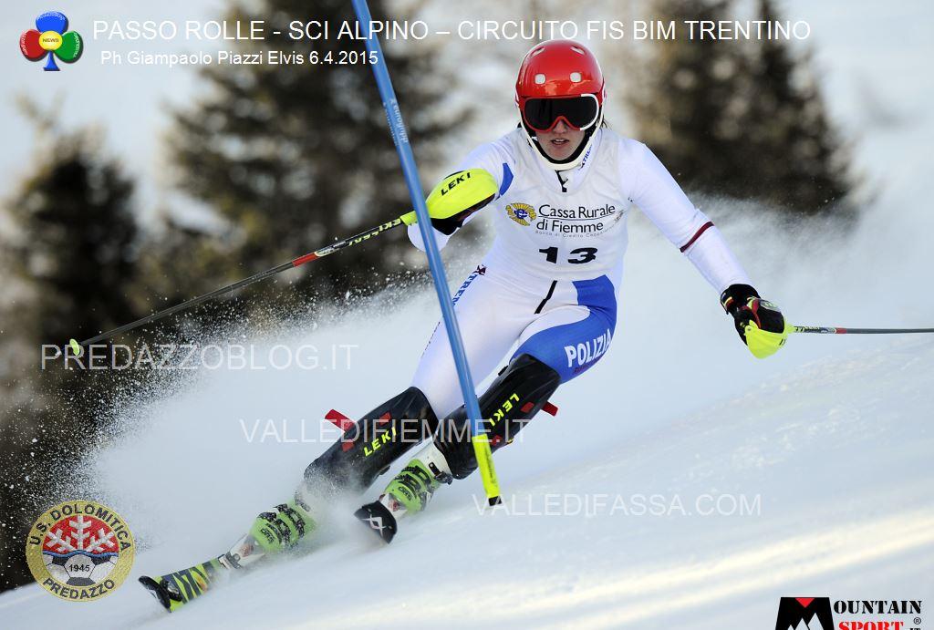 sci alpino gare fis passo rolle bim dolomitica 6 aprile 20153 Circuito Fis Bim Trentino oggi al Rolle, classifiche e foto