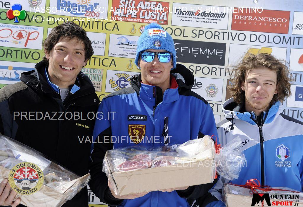 sci alpino gare fis passo rolle bim dolomitica 6 aprile 20156 Circuito Fis Bim Trentino oggi al Rolle, classifiche e foto