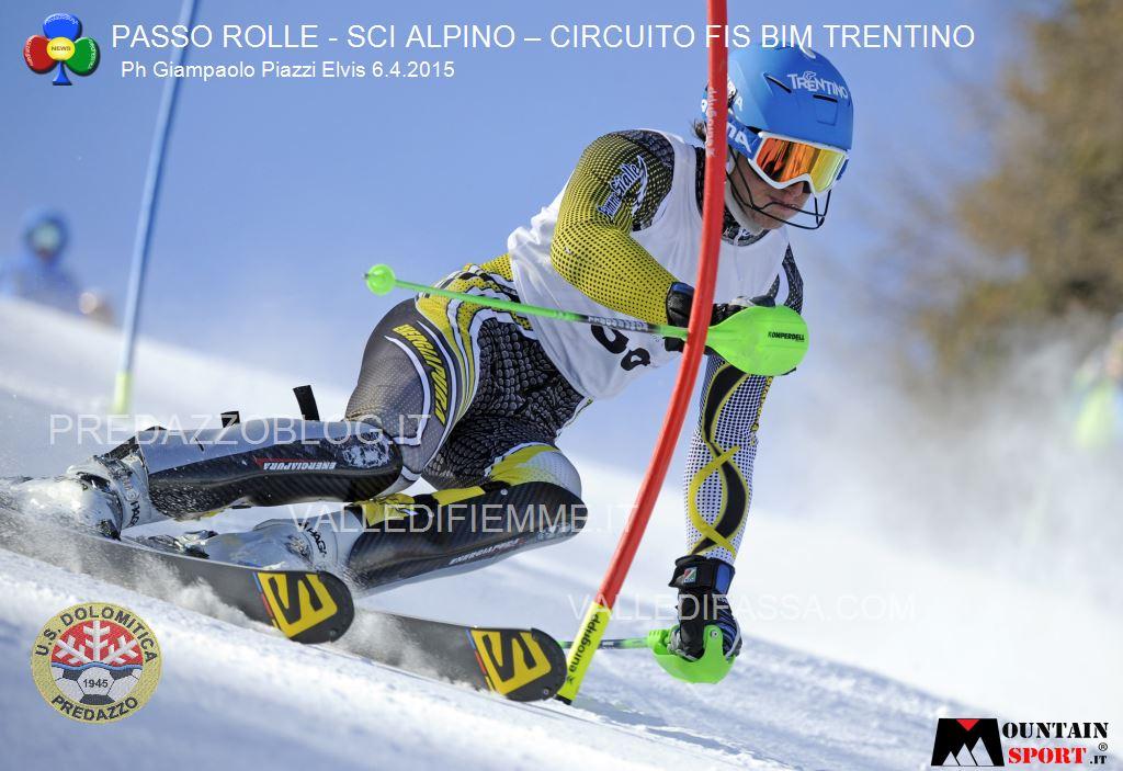 sci alpino gare fis passo rolle bim dolomitica 6 aprile 20157 Circuito Fis Bim Trentino oggi al Rolle, classifiche e foto