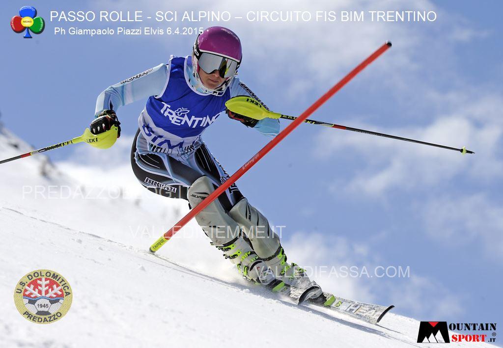 sci alpino gare fis passo rolle bim dolomitica 6 aprile 20158 Circuito Fis Bim Trentino oggi al Rolle, classifiche e foto