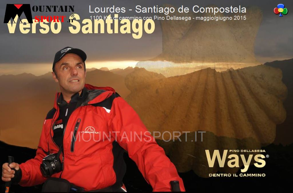 lourdes santiago con pino dellasega mountainsport11 Lourdes   Santiago 1100 Km, in cammino con Pino Dellasega