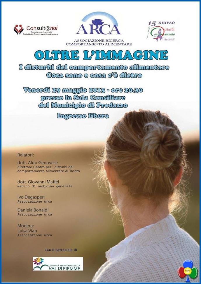 Oltre l'Immagine, serata sui disturbi alimentari @ Aula Magna Municipio | Predazzo | Trentino-Alto Adige | Italia