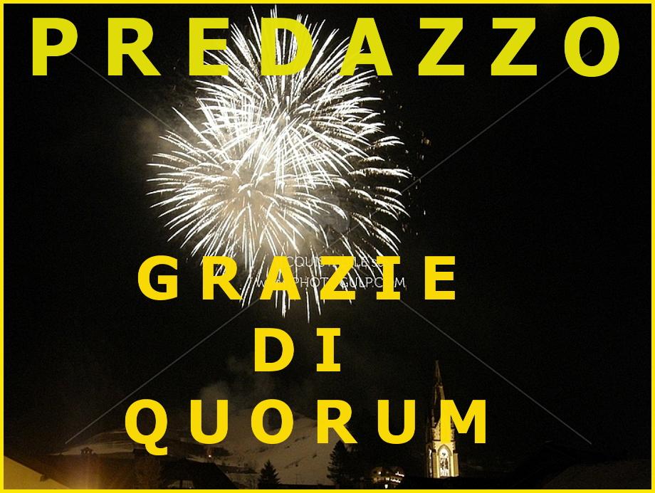 predazzo grazie di quorum Raggiunto il quorum a Predazzo, i risultati del voto 2015