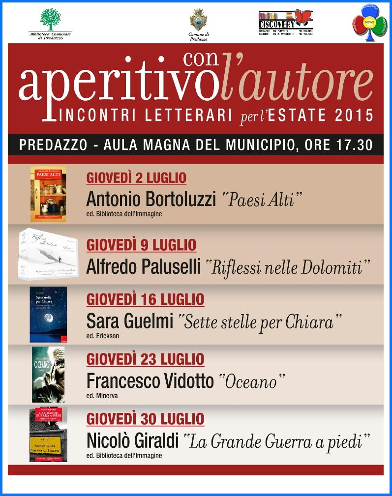 aperitivo con l autore 2015 Predazzo, Aperitivo con lAutore 2015