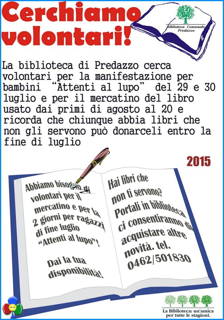 """1 718x1024 Cercasi volontari per """"BiblioInPiazza"""" e mercatino del libro"""