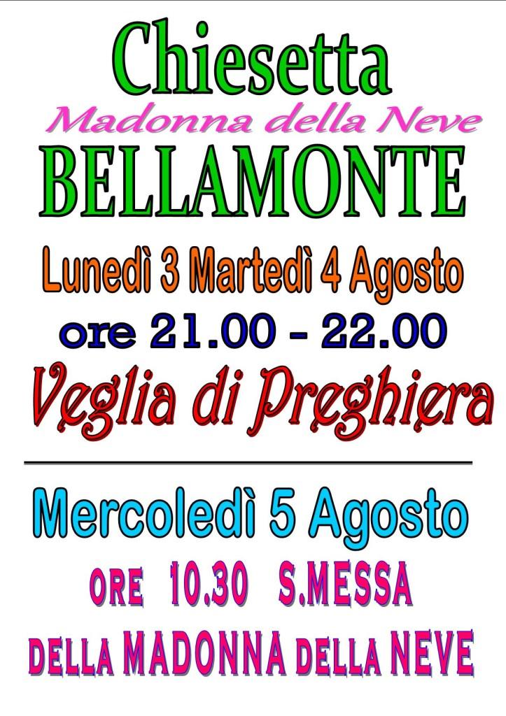 BELLAMONTE triduo 5 AGOSTO 723x1024 Avvisi della Parrocchia e foto de San Giacom
