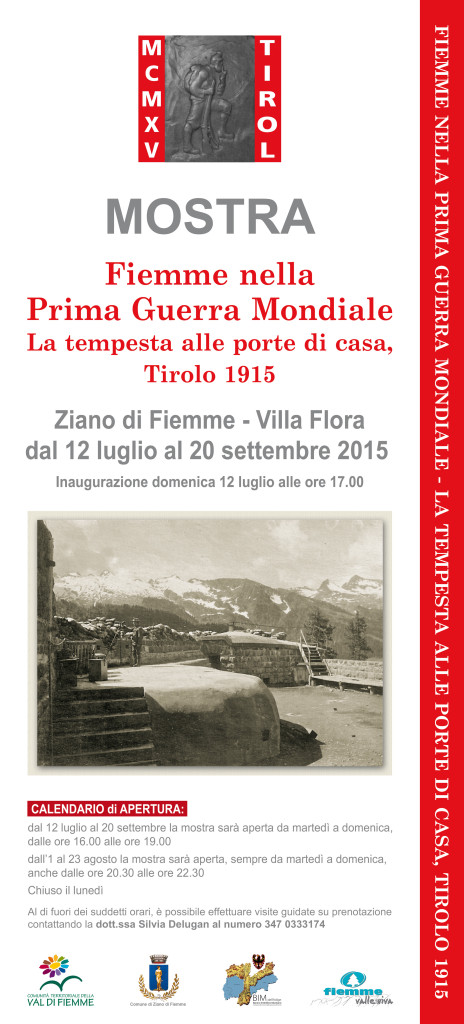 Fiemme nella PrimaGuerraMondiale LOCANDINA 4 464x1024 Fiemme 1915: La guerra alle porte di casa