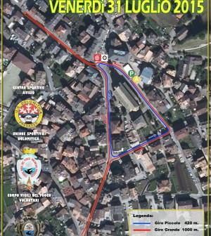 corsa in notturna 2015 tracciato