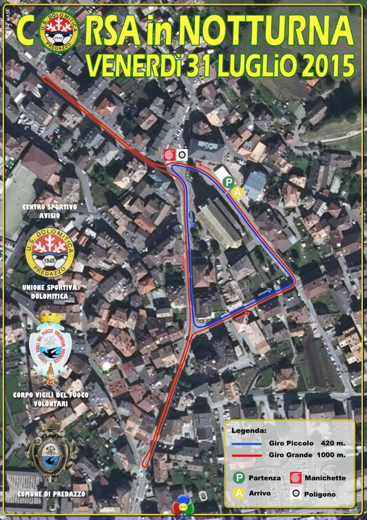 corsa in notturna 2015 tracciato 724x1024 Questa sera la Corsa in Notturna a Predazzo