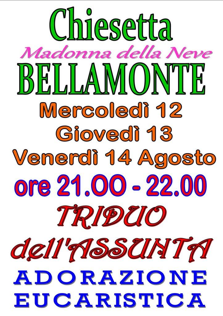 BELLAMONTE triduo ASSUNTA 723x1024 Predazzo, avvisi della Parrocchia 9/16 agosto