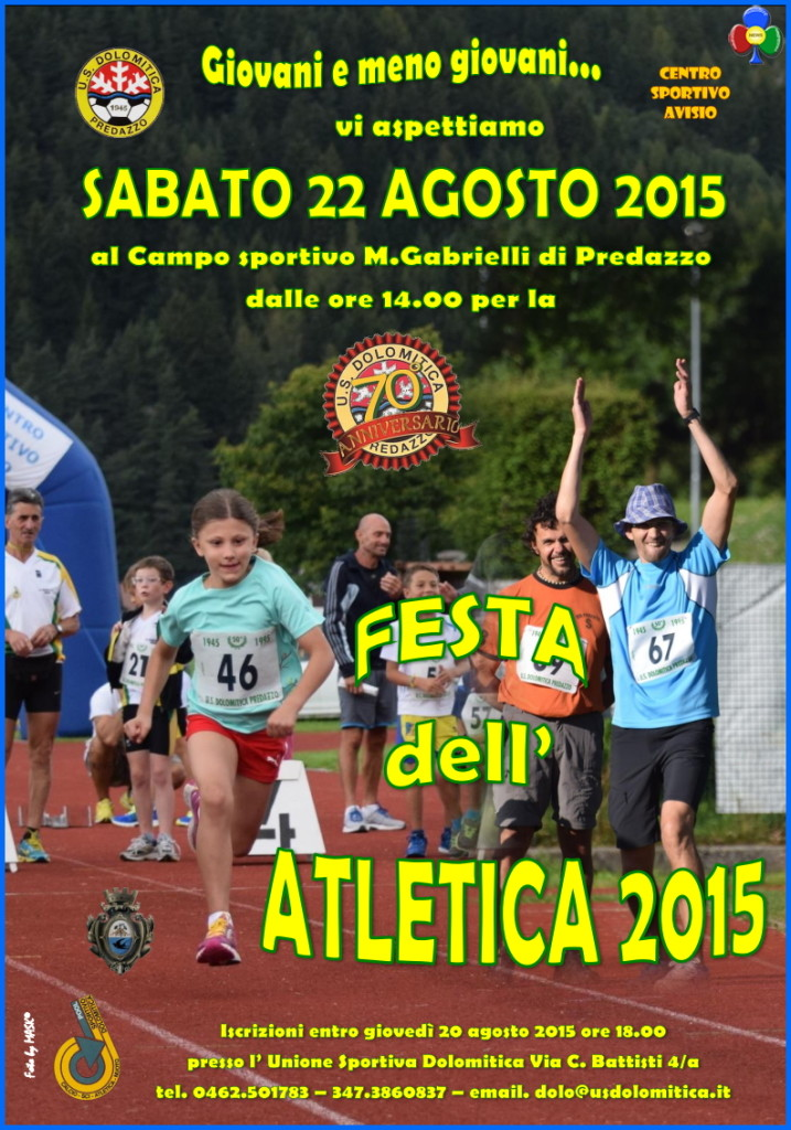 festa atletica predazzo 2015 717x1024 Predazzo, Festa dellAtletica 2015
