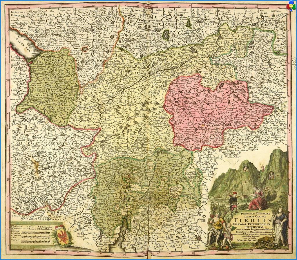 """mappa storica del tirolo 1024x896 """"An der Front"""" giornata commemorativa a Cheta   Le foto"""
