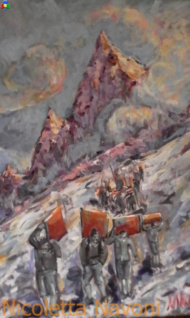 nicoletta navoni pittrice fiamme gialle 614x1024 I Bivacchi delle Fiamme Gialle in mostra alla Scuola Alpina