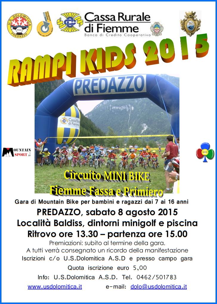 rampi kids 2015 predazzo Rampi Kids e Mini Bike 2015 a Predazzo