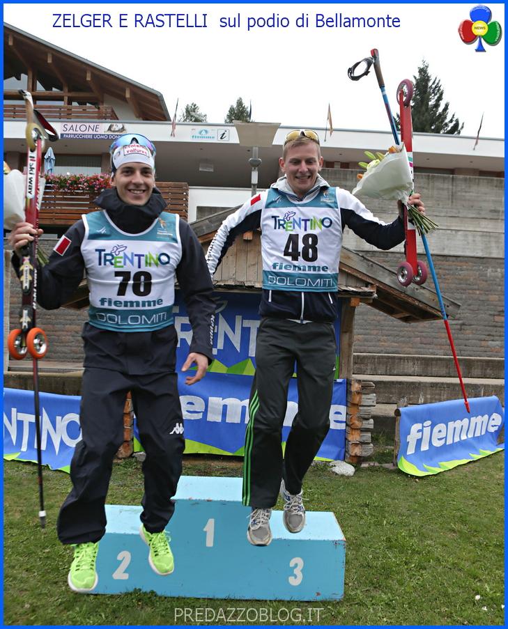 ZELGER E RASTELLI PODIO BELLAMONTE Mondiali Skiroll Zelger e Rastelli nellolimpo di Fiemme