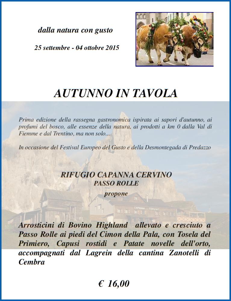 capanna cervino autunno 2015 Capanna Cervino aperta nei weekend fino al 1 novembre
