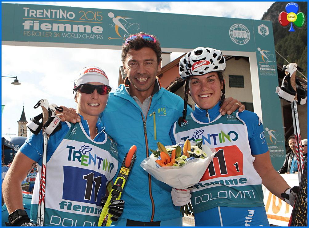 gaia vueric e giulia sturz mondiali fiemme skiroll Gaia Vuerich e Giulia Stürz argento mondiale in Valle di Fiemme