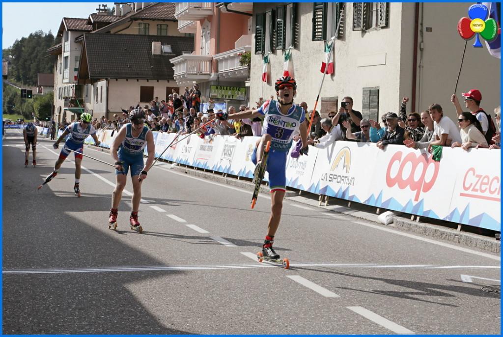 oro maschile mondiali skiroll fiemme 2015 1024x686 Gaia Vuerich e Giulia Stürz argento mondiale in Valle di Fiemme