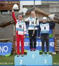 podio femminile jr mondiali skiroll fiemme 2015