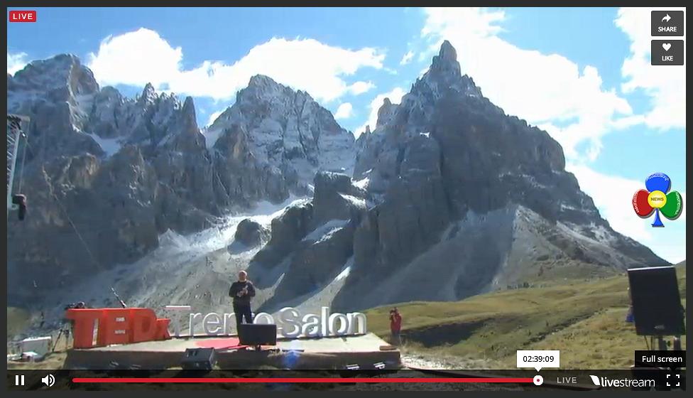 "ted x trento saloon streaming baita segantini rolle TEDxTrento Salon ""Dolomiti: Assoluto"" in diretta da Baita Segantini"