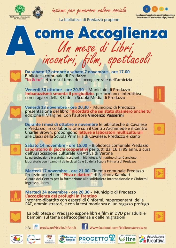 """locandina accoglienza 2 727x1024 """"A come Accoglienza"""" fra libri, incontri, film, spettacoli"""