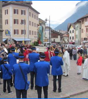 predazzo processione madonna ottobre 18.10.15