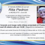 rita pedron 150x150 Avvisi Parrocchie 4  11 marzo. Necrologio Anna Dellagiacoma