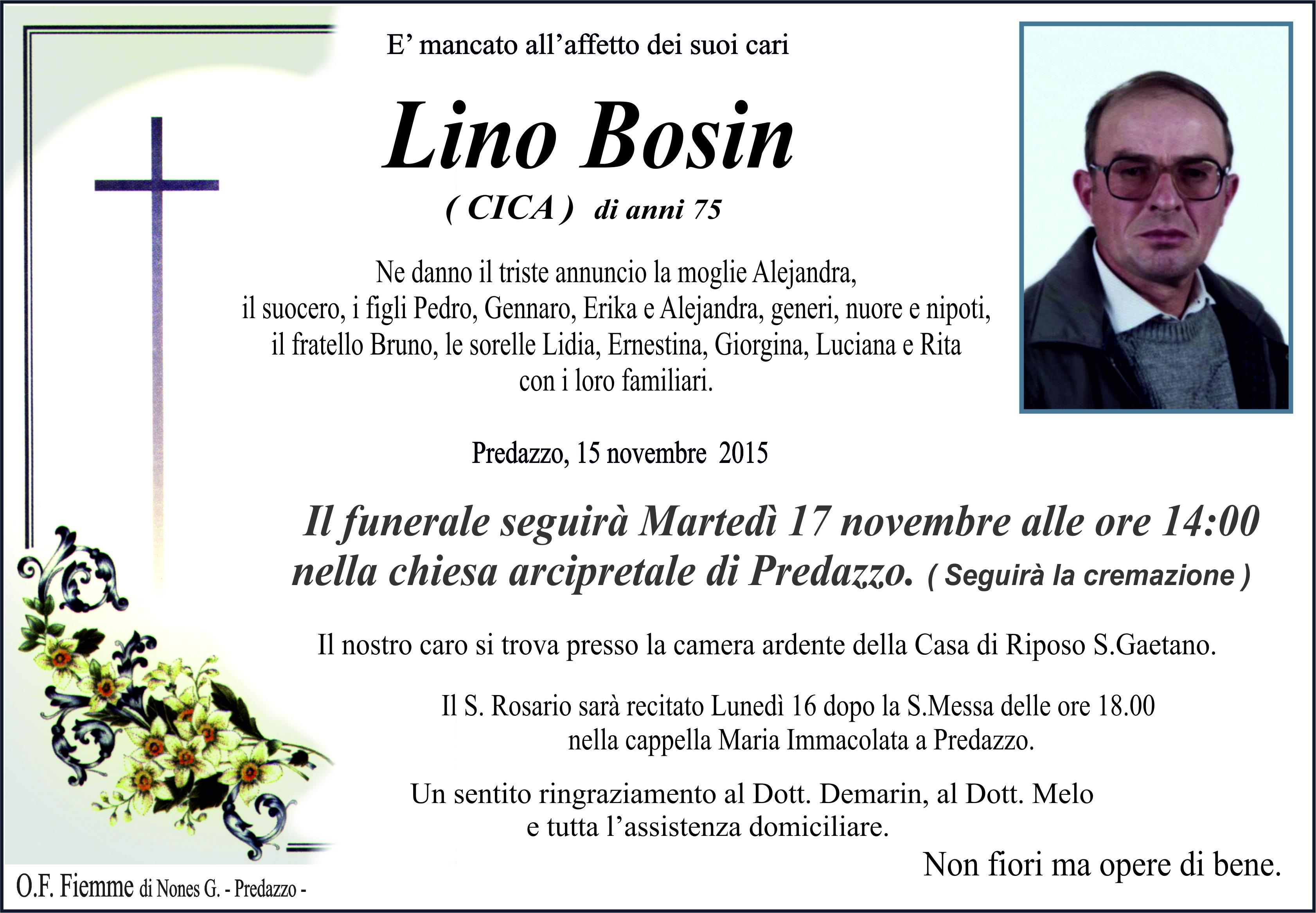 Bosin Lino Necrologi Guido DeFaveri e Lino Bosin