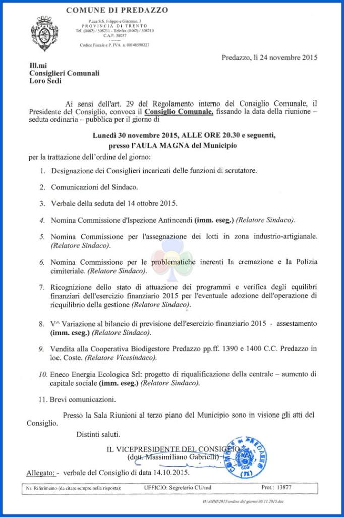 consiglio comunale predazzo nov 682x1024 Consiglio Comunale Predazzo il 30 novembre