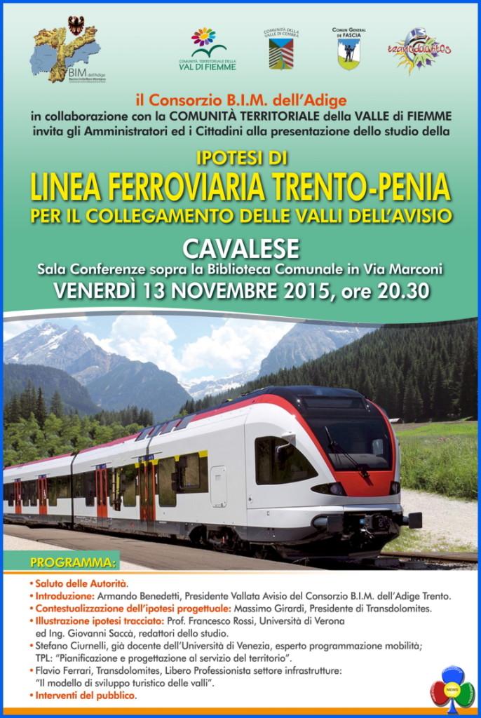 ferrovia trento penia 686x1024 Ferrovia dellAvisio, presentazione ipotesi tracciato