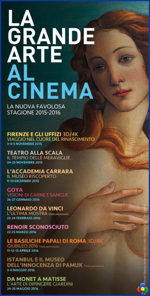 la grande arte al cinema 519x1024 Firenze e gli Uffizi 3D/4K a Predazzo la Première Mondiale