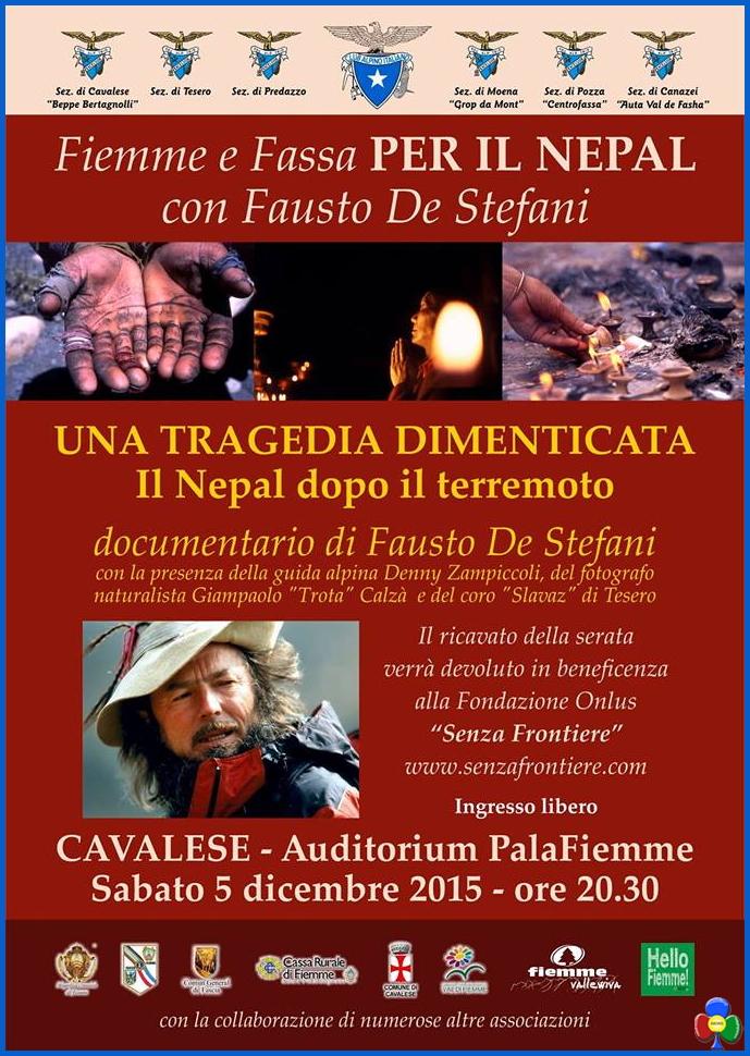 nepal fiemme fassa Nepal tragedia dimenticata, serata Cai Sat Fiemme Fassa